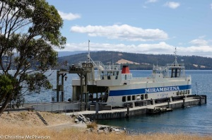 The double decker ferry to Bruny