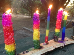 The kids candles from Sovereign Hill