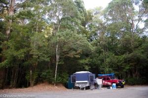 Our camp at Julius River