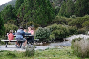Cooking our dinner in the National Park