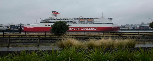 The Spirit of Tasmania - leaving for the night trip on the 26th Feb