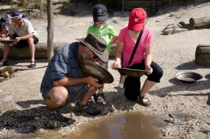 Panning for gold!