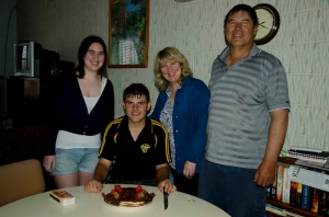 The Inglis family!  Katherine was home from Uni for Easter and it was David's birthday.