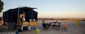 Set up at the Nullabor Roadhouse