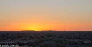 Sunsetting on the Nullabor Plains