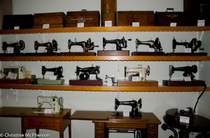 Sewing machines in the museum