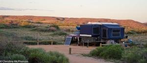 Our campsite at Karrojong in Cape Range NP