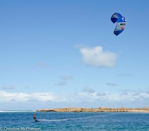 Kite surfer at Point Quobba