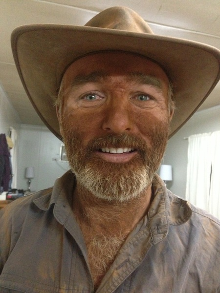 This is what you look like after a days mustering in the Pilbara