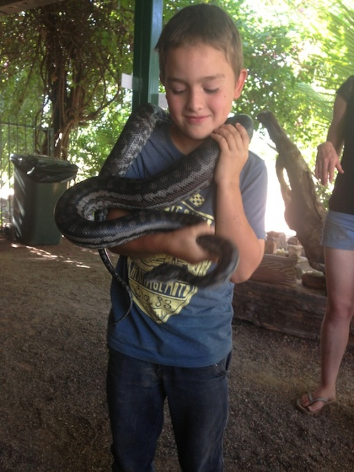 Derek the python with Dan