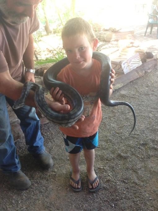 Derek the python with Matt