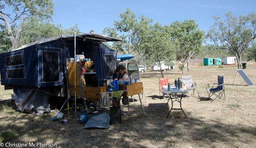 Our camp at the Zebra Rock Mine