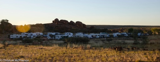 The crowded camping