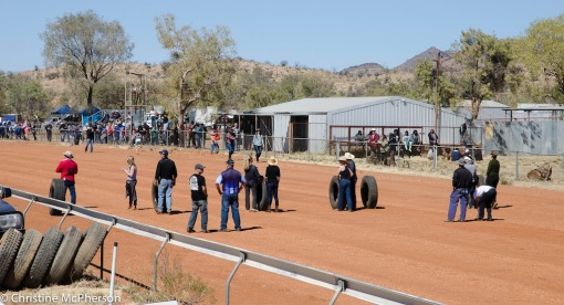 Next there were mens and womens tyre rolling comps
