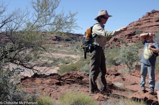 Ranger talk at Palm Valley