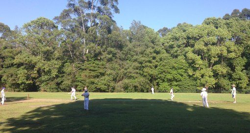 LOVING being with family again - we watched our nephew play cricket and Dan is going to join his team!